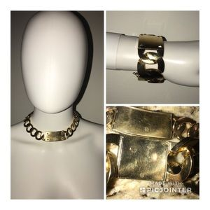 HOUSE of HARLOW xl gold chain necklace bracelet
